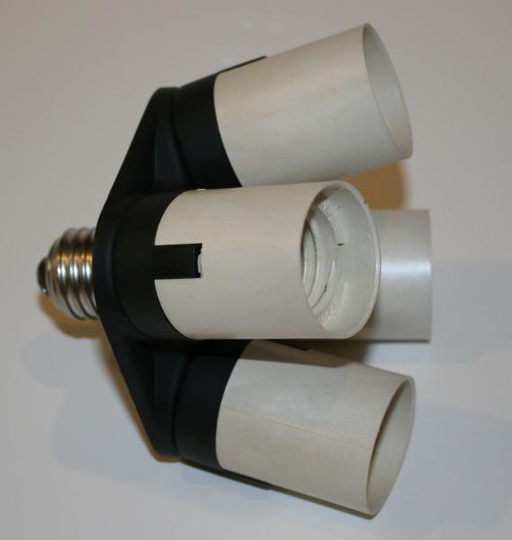 4 bulb light fixture led wraparound light diy cfl grow light inventgeek
